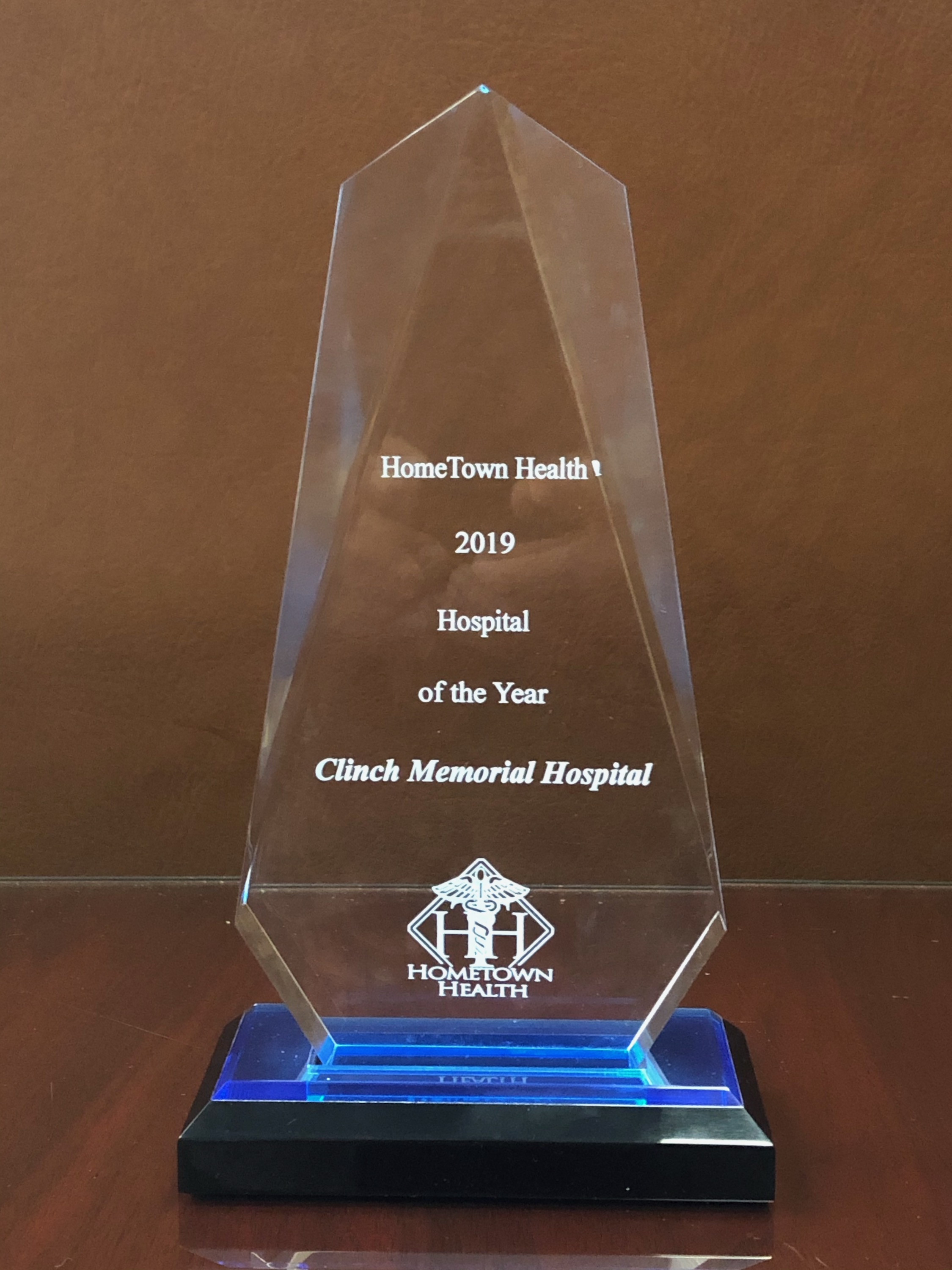 Clinch Memorial Hospital is HomeTown Health's Hospital of the Year.